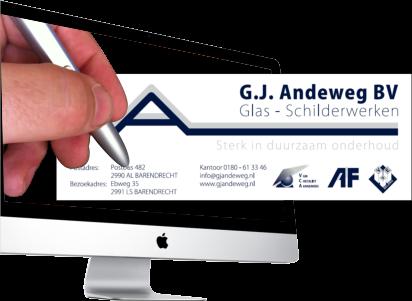 Huisstijl en Website en meer van G.J.Andeweg BV